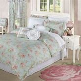 Cottage Rose Comforter Set Aqua Mist