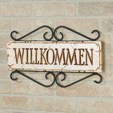 Welcome Wall Plaque - German German