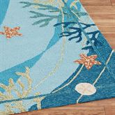 Underwater Coral Starfish Runner Rug Blue 22 x 5