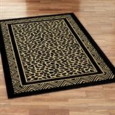 Wild Leopard Rectangle Rug Black/Gold