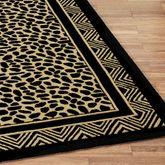 Wild Leopard Runner Rug Black/Gold 23 x 8
