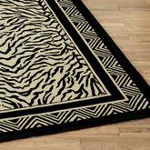 Wild Zebra Runner Rug Black/Ivory 23 x 8