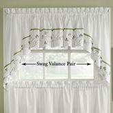 Clover Swag Valance Pair White 58 x 30