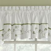 Clover Tailored Valance White 58 x 14