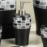 Black Mosaic Stone Lotion Soap Dispenser