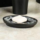 Black Mosaic Stone Soap Dish