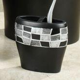 Black Mosaic Stone Toothbrush Holder