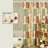 Tranquility Shower Curtain Multi Warm 70 x 72