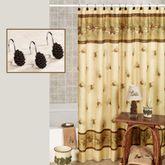 Pinehaven Shower Curtain Beige 70 x 70