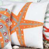 Fiesta Key Starfish Pillow White 18 Square