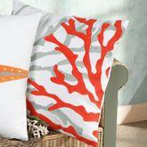 Fiesta Key Coral Pillow White 18 Square