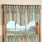 Stacey Stripe Windsor Valance Brown 70 x 17