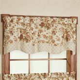 Cottage Rose Scalloped Valance Light Cream 52 x 15