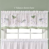 Morning Song Bird Tailored Valance White 57 x 13