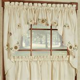 Sunflower Swag Valance Pair Light Cream 60 x 36