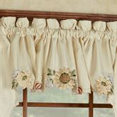 Sunflower Tailored Valance Light Cream 60 x 12
