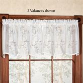 Hawthorne Sheer Scalloped Valance Ivory 53 x 18