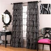 Gypsy Zebra Print Ruffled Curtains
