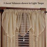 Reverie Semi Sheer Ascot Valance 40 x 25