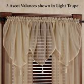 Reverie Semi Sheer Ascot Valance 40 x 25
