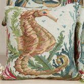 Sealife Seahorse Pillow Multi Earth 18 Square