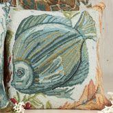 Sealife Fish Pillow Multi Earth 18 Square