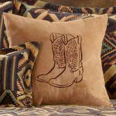 Tucson Embroidered Pillow Multi Warm 18 Square