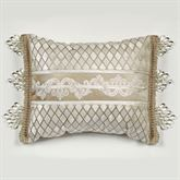 Luminous Bead Tassel Pieced Pillow Champagne Gold Rectangle