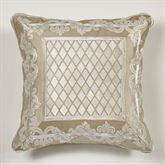 Luminous Piped Pillow Champagne Gold 18 Square