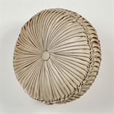 Luminous Tufted Pillow Champagne Gold Round