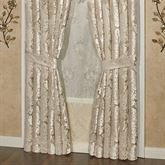 Luminous Wide Tailored Curtain Pair Champagne Gold 100 x 84