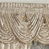 Luminous Waterfall Valance Champagne Gold 43 x 33