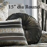 Bridgeport Spa Tufted Pillow Black Round
