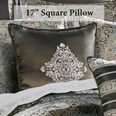 Bridgeport Spa Embroidered Pillow Black 17 Square