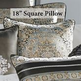Bridgeport Spa Piped Pillow Sterling Blue 18 Square