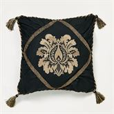 Imperial Piped Square Pillow Black 18 Square