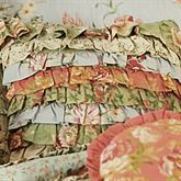 Garden Dream Ruffled Square Pillow Cream 16 Square