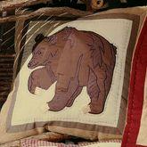 Big Sky Square Bear Pillow Camel 14 Square