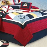Sail Away Cotton Quilt Navy