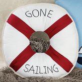 Gone Sailing Tailored Round Pillow Navy 16 Round