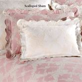 Lattice Floral Scalloped Sham
