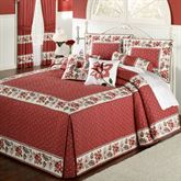 Chateau Rouge Grande Bedspread Red