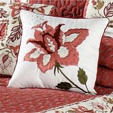 Chateau Rouge Embroidered Square Pillow 16 Square