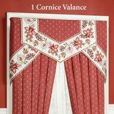 Chateau Rouge Cornice Valance Set Red Three Piece Set
