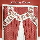 Chateau Rouge Cornice Valance Set Red Three Piece Set