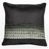 Horizons Piped Square Pillow Charcoal 18 Square