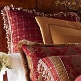 China Art Fringed European Sham Ruby