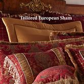 China Art Tailored European Sham Ruby
