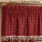 China Art Red Tailored Valance Ruby 52 x 18