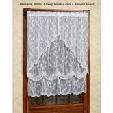 Cottage Garden Lace Balloon Shade 56 x 63